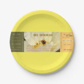 """Placa de papel 7"""" de Deborah de la abeja Platos De Papel"""
