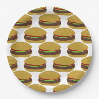 """Placa de papel 9"""" de las hamburguesas plato de papel de 9 pulgadas"""