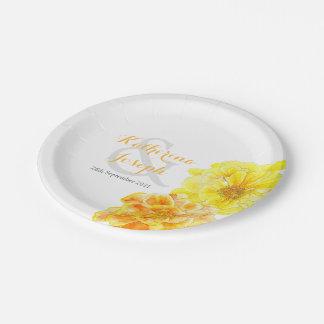 Placa de papel de encargo de las maravillas de la plato de papel de 7 pulgadas