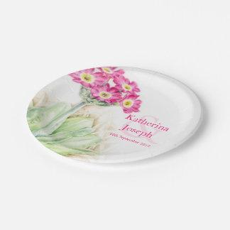 Placa de papel de encargo del primula de la platos de papel