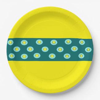 Placa de papel de encargo platos de papel
