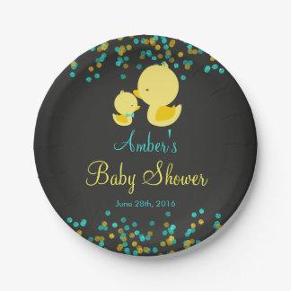 Placa de papel de la fiesta de bienvenida al bebé platos de papel