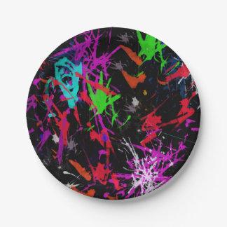 Placa de papel de la pintada fresca plato de papel de 7 pulgadas