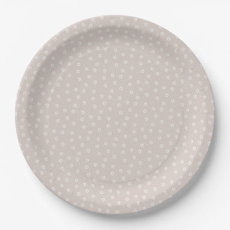 Placa de papel de la plantación - arena plato de papel de 9 pulgadas