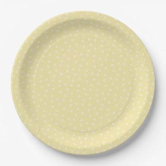 Placa de papel de la plantación - limón plato de papel de 9 pulgadas