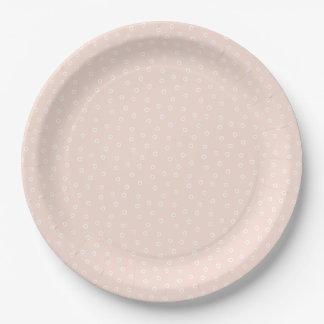 Placa de papel de la plantación - melocotón plato de papel de 9 pulgadas