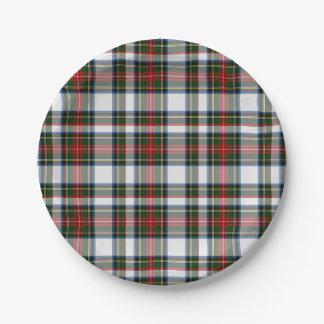 Placa de papel de la tela escocesa de tartán del