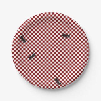 Placa de papel de las hormigas de la comida plato de papel de 7 pulgadas