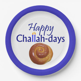 Placa de papel de los Jalá-Días felices Platos De Papel
