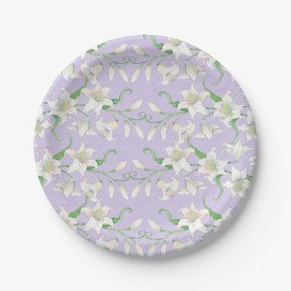 Placa de papel de Pascua Lilly 2 de la primavera Platos De Papel