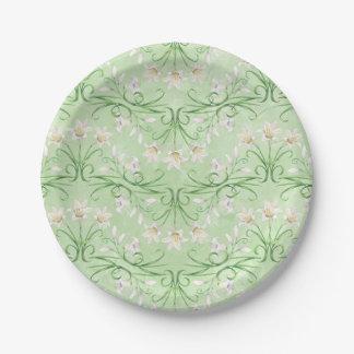 Placa de papel de Pascua Lilly de la primavera Platos De Papel