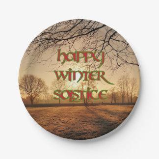 Placa de papel de Sun del invierno para el Plato De Papel De 7 Pulgadas