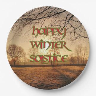 Placa de papel de Sun del invierno para el Plato De Papel De 9 Pulgadas