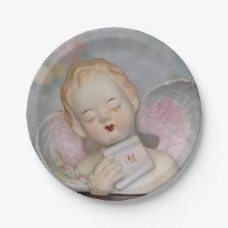 Placa de papel del ángel platos de papel