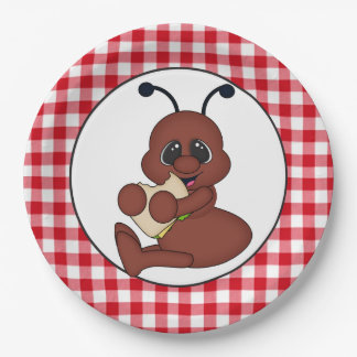Placa de papel del fiesta de la hormiga de la plato de papel de 9 pulgadas