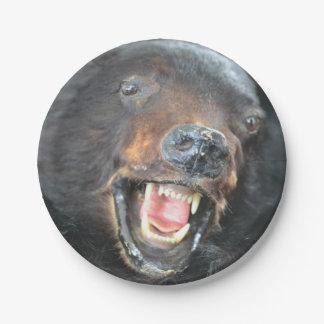 Placa de papel del oso plato de papel de 7 pulgadas