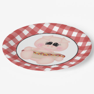 Placa de papel del perrito caliente del cerdo del platos de papel