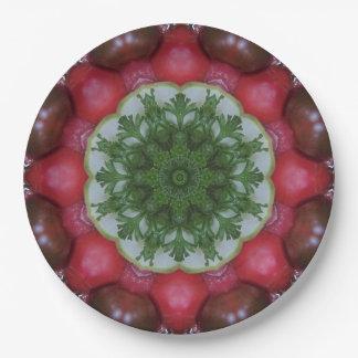Placa de papel del Veggie rojo del tomate Platos De Papel