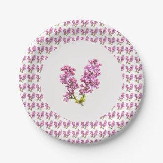 Placa de papel - lilas múltiples (vers. 2) plato de papel de 7 pulgadas