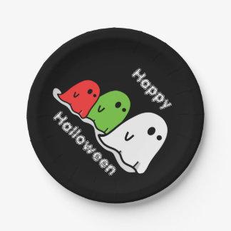 Placa de papel negra fantasmal de Halloween Platos De Papel