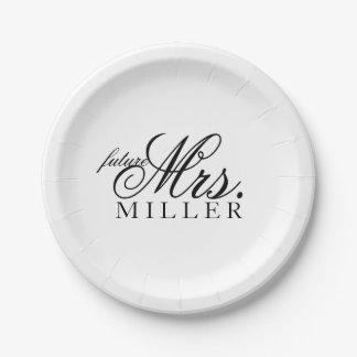 Placa de papel - señora futura platos de papel