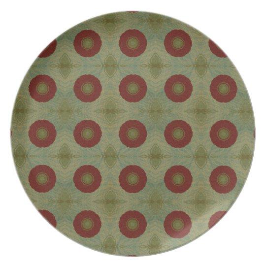 Placa de pared de la decoración del extracto del a plato