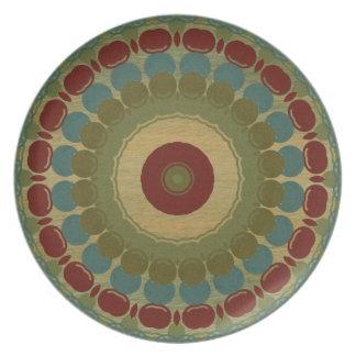 Placa de pared decorativa del extracto del arte de plato de cena