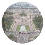 Placa de París Plato Para Fiesta
