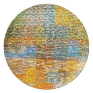 Placa de Parnassum del anuncio de Paul Klee Platos