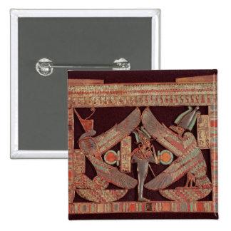 Placa de pecho que representa Osiris, dios de Pin Cuadrada 5 Cm