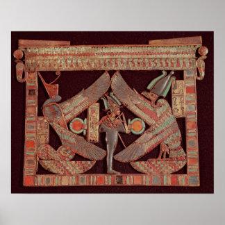 Placa de pecho que representa Osiris, dios de Póster