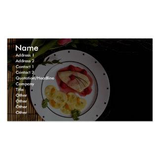 Placa de pechuga de pollo con pocas calorías delic tarjetas personales
