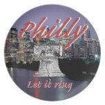 Placa de Philadelphia Pennsylvania Platos Para Fiestas