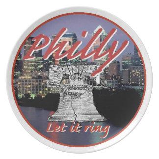 Placa de Philadelphia Pennsylvania Platos De Comidas