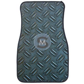 Placa de piso con monograma peculiar del cuadro alfombrilla de coche