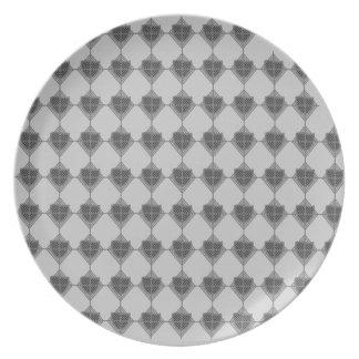 Placa de plata de Dridge Plato De Cena