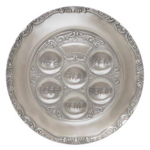 Placa de plata de Seder Plato De Comida