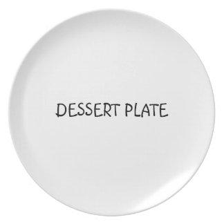 Placa de postre plato de comida