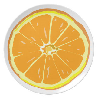 Placa de rebanada anaranjada platos para fiestas