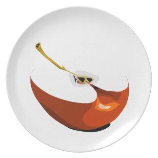 Placa de rebanada de Apple Platos De Comidas