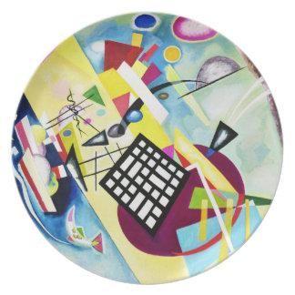 Placa de rejilla negra de Kandinsky Platos