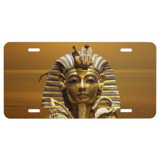 Placa de rey Tut Aluminium de Egipto Placa De Matrícula