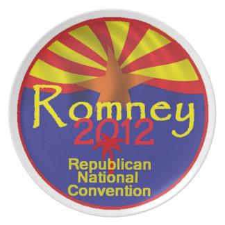 Placa de Romney ARIZONA Plato De Cena