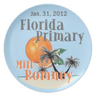 Placa de Romney la Florida Plato