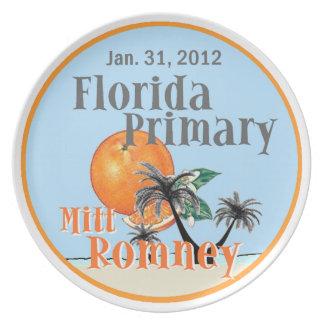 Placa de Romney la Florida Platos De Comidas