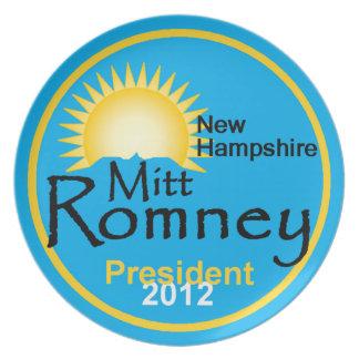 Placa de Romney NH Platos