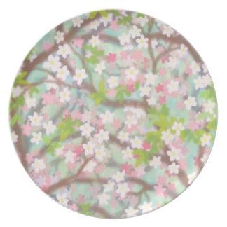 Placa de Sakura Deco de las flores de cerezo Platos
