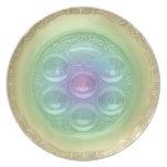 Placa de Seder del arco iris Plato