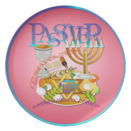 Placa de Seder del Passover Plato Para Fiesta