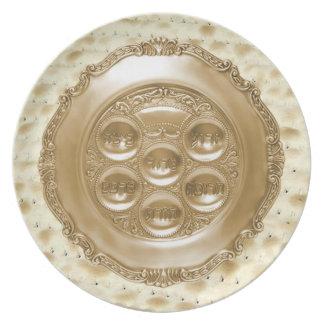 Placa de Seder en cargador del Matzoh Platos